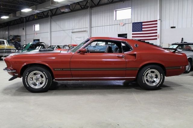 1969 ford mustang mach 1 4144 miles indian fire coupe 428. Black Bedroom Furniture Sets. Home Design Ideas