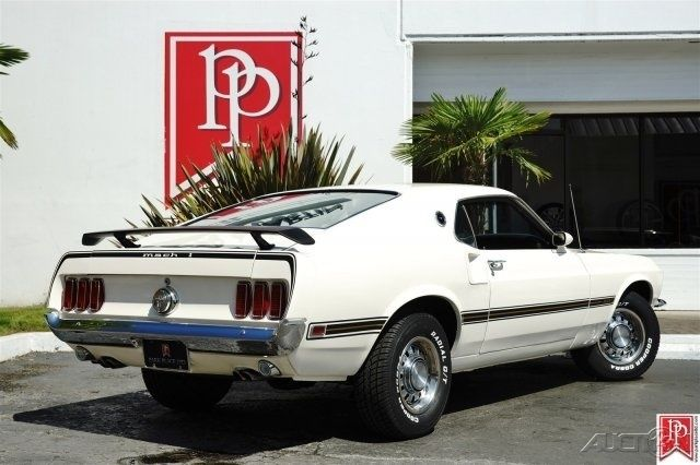 1969 Ford Mustang Mach 1 Sportsroof In Wimbledon White