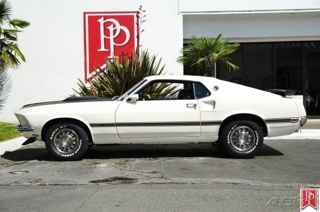 1969 Ford Mustang Mach 1 Sportsroof In Wimbledon White With Black Interior Classic Ford