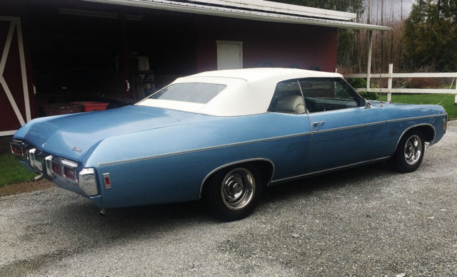 1969 Impala 427 Convertible LS1 335 hp M40 Turbo 400 numbers matching GM Canada - Classic ...