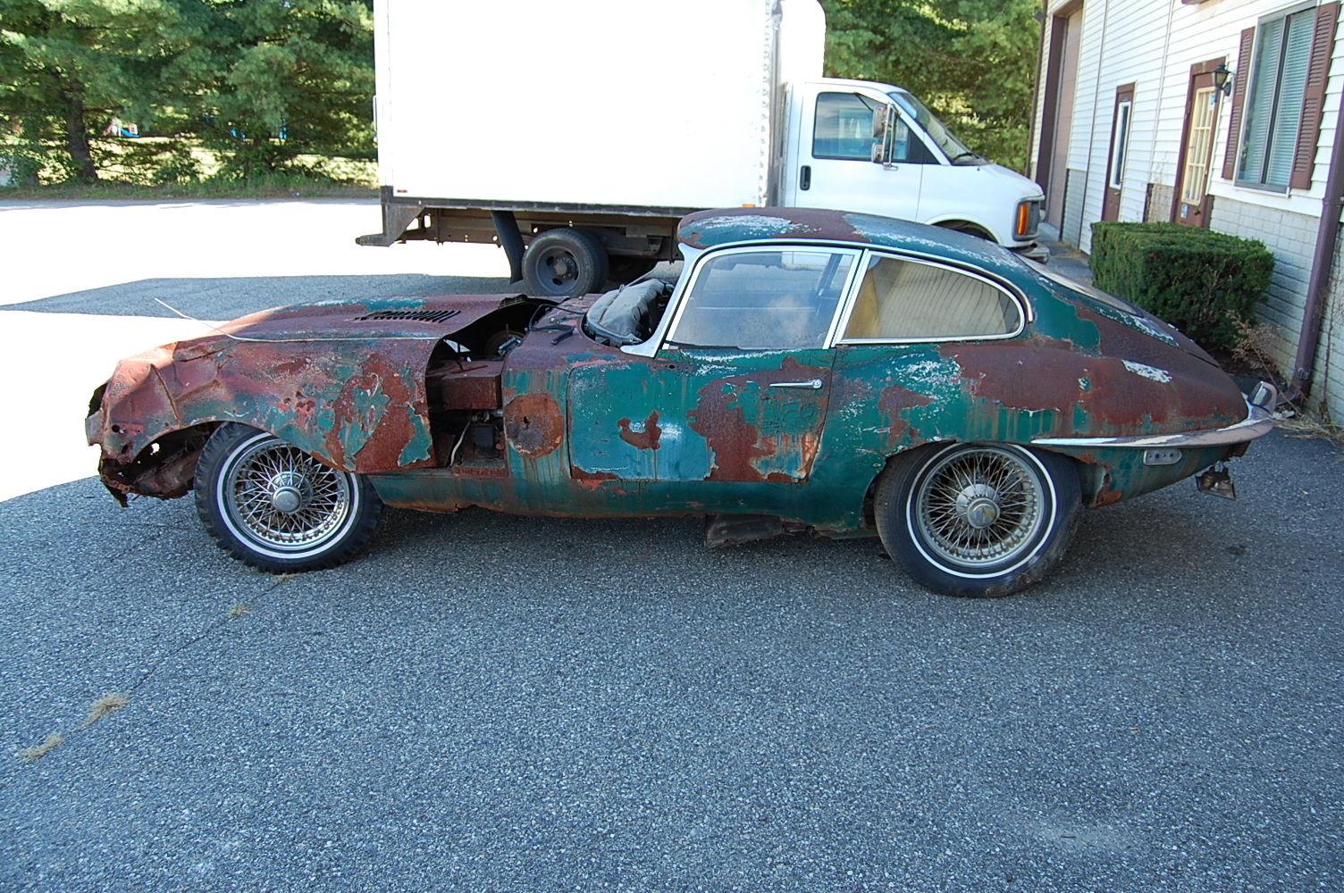 1969 Jaguar Xke Series 2 Coupe Needs Restoration Includes Extra Front Bonnet Classic Jaguar E
