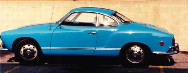 1969 Karmann Ghia Blue Hardtop AUTOMATIC STICKSHIFT
