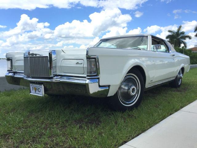 1969 Lincoln Mark Iii One Owner 45 Years Triple White