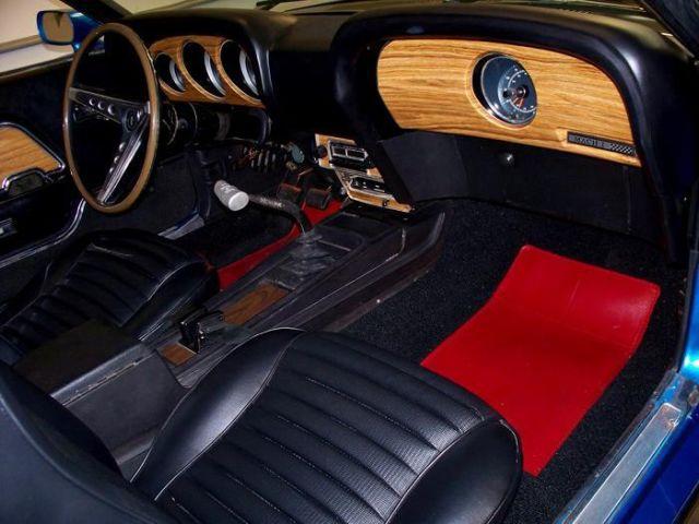 1969 Mach 1 R Code 428 Cobra Jet Shaker Hood 4spd