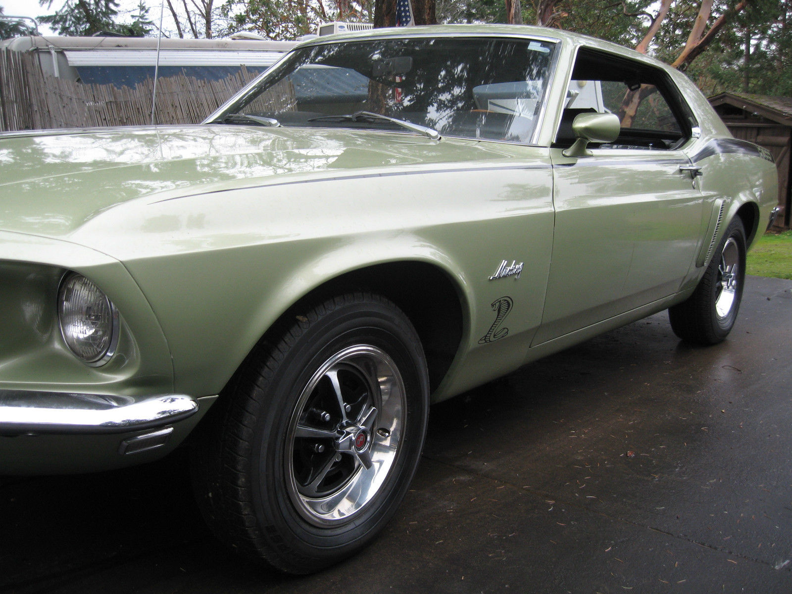 1969 mustang 2 dr hardtop coupe 302 v8 hot rod factory original color 1969 ford mustang