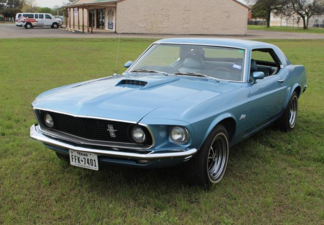 1969 Mustang Coupe Blue on Blue - Great Condition ...1969 Mustang Coupe Blue
