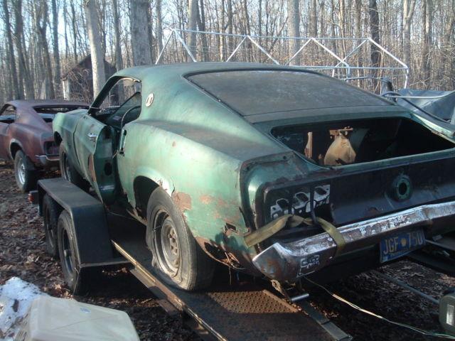 1969 Mustang Fastback 302 At F Code Needs Restoration