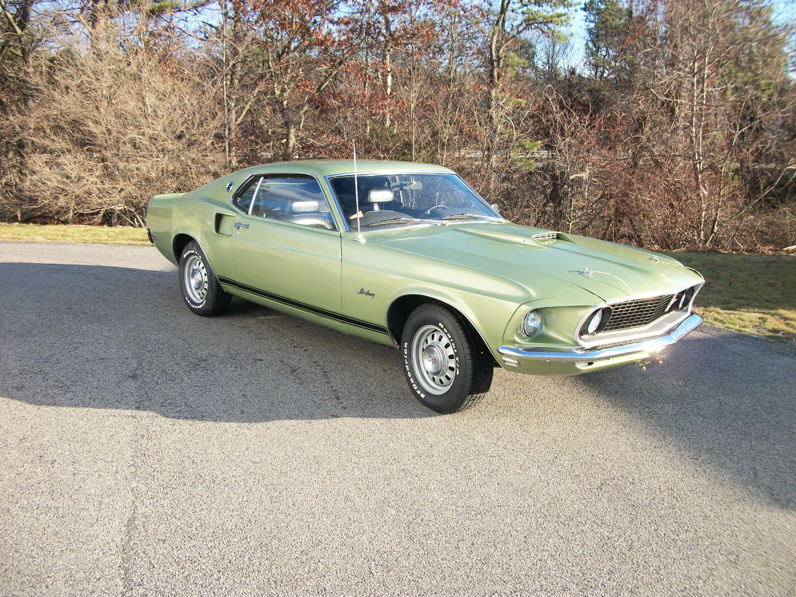 1969 Mustang Gt Fastback Factory Lime Gold 45000 Original Miles 1 Ford Mach