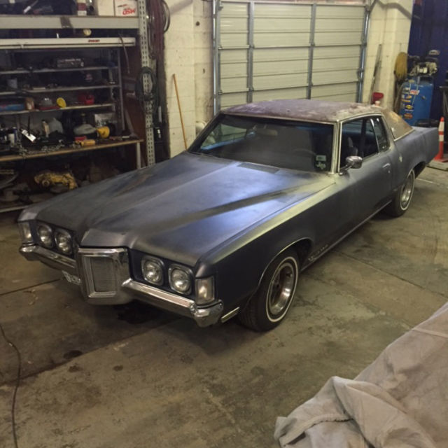 1969 pontiac grand prix j triple blue project car runs and drives nice classic pontiac grand. Black Bedroom Furniture Sets. Home Design Ideas