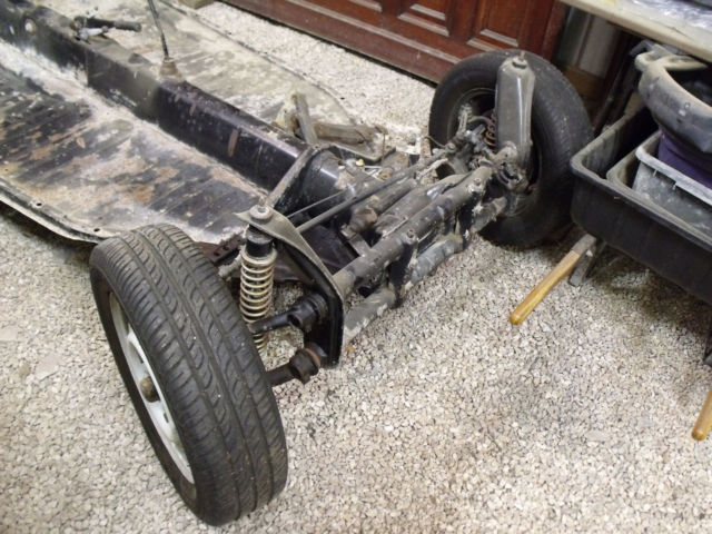 Vw Beetle Rolling Chassis With Engine Amp Transmission No Title on Vw Beetle Transmission Swap