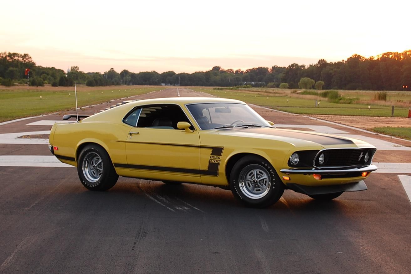 1969 yellow boss 302 mustang 1969 ford mustang