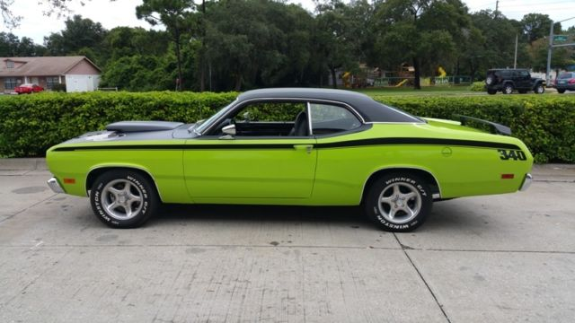 1970 340 duster beautiful driver in sublime lime a must see watch video classic plymouth. Black Bedroom Furniture Sets. Home Design Ideas
