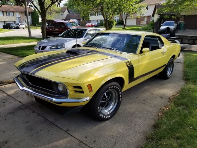 1970 boss 302 ford mustang 4 speed shaker hood rebuilt engine classic ford mustang 1970 for sale. Black Bedroom Furniture Sets. Home Design Ideas