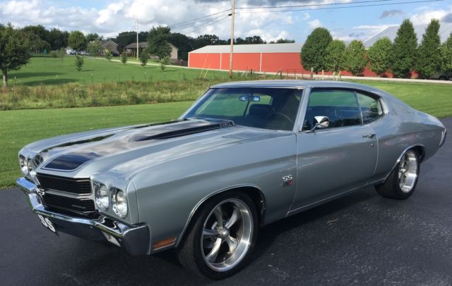 1970 Chevelle Ss Ls1 Cortez Silver Black Stripes