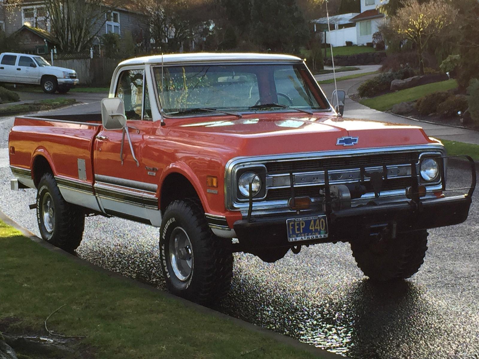 1970 chevrolet c10 4x4 pickup 2dr reg cab 4 8l engine 63k original miles 1 39 owner classic. Black Bedroom Furniture Sets. Home Design Ideas