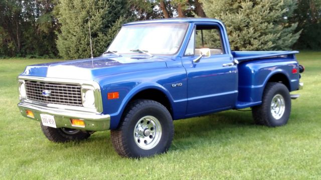 144003 1970 Chevrolet C10 4x4 Stepside Shortbox 1967 1968 1969 1971 1972 Restored moreover 1966 Chevrolet C10 Stepside Custom moreover 1972 Chevy K5 Blazer For Sale in addition File f100rear as well 1972 Chevrolet Cheyenne Step Side. on 1967 chevy pickup 4x4