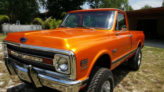 1970 chevy short bed 4x4 fresh frame off restored az truck pearl orange c10 classic chevrolet. Black Bedroom Furniture Sets. Home Design Ideas
