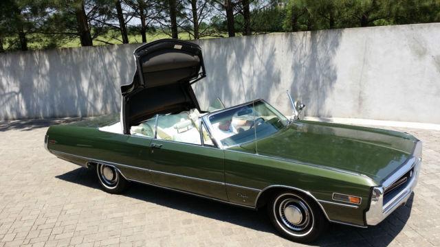 1970 chrysler 300 convertible rare collector survivor. Black Bedroom Furniture Sets. Home Design Ideas