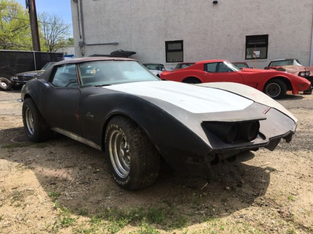 1970 corvette 4 speed coupe t top chrome bumper car project car cheap look classic chevrolet. Black Bedroom Furniture Sets. Home Design Ideas