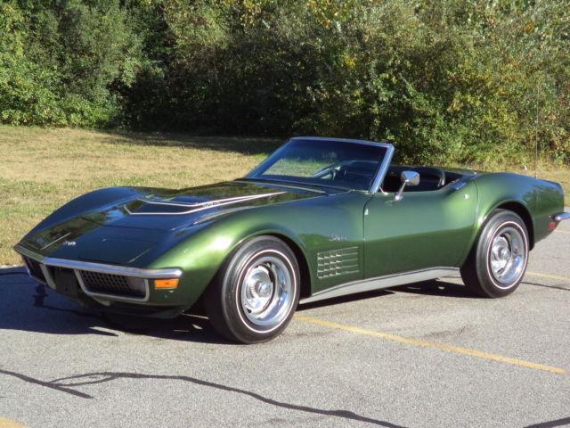 Used Corvette Stingray >> 1970 CORVETTE LT1 CONVERT #'S MATCH 350/370 HP SAME OWNER ...