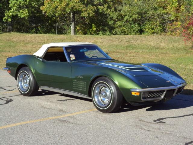 1970 corvette lt1 convert 39 s match 350 370 hp same owner since 1974 w documents classic. Black Bedroom Furniture Sets. Home Design Ideas