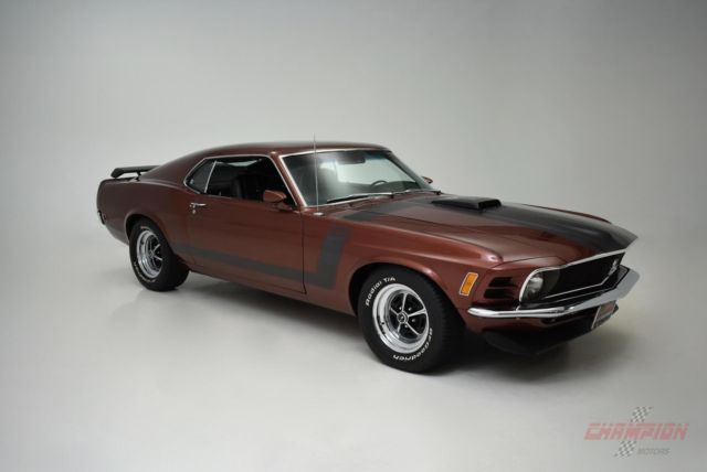 1970 ford boss 302 89 735 miles brown coupe manual classic ford mustang 1970 for sale. Black Bedroom Furniture Sets. Home Design Ideas