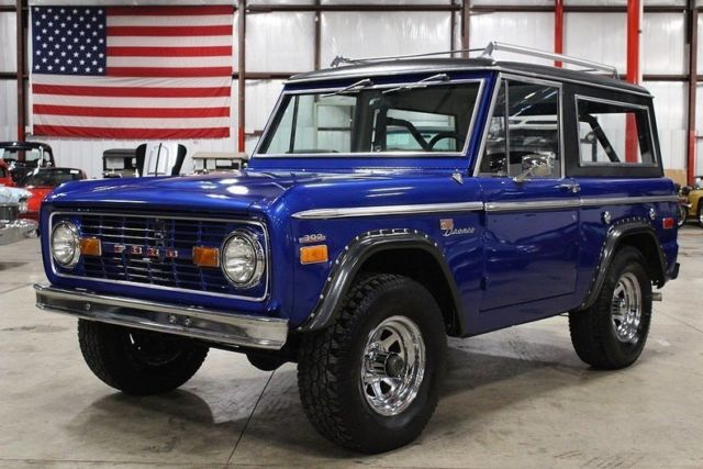 1970 ford bronco 28272 miles blue suv 302 v8 manual classic ford bronco 1970 for sale. Black Bedroom Furniture Sets. Home Design Ideas