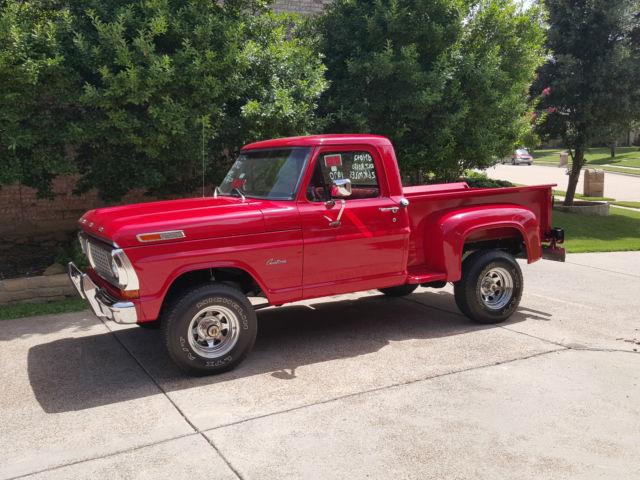 1970 ford f 100 4x4 original restored step side pickup. Black Bedroom Furniture Sets. Home Design Ideas