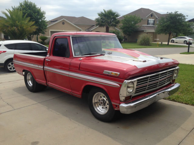 1970 Ford F100 Short Bed Bump Side Drag Truck Classic