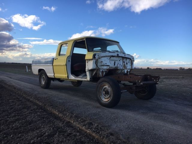 79 Ford Crew Cab For Sale >> 1970 Ford F250 Crew Cab 4x4 Short Bed Project Truck Crewcab F-250 67-72 71 70 69 - Classic Ford ...