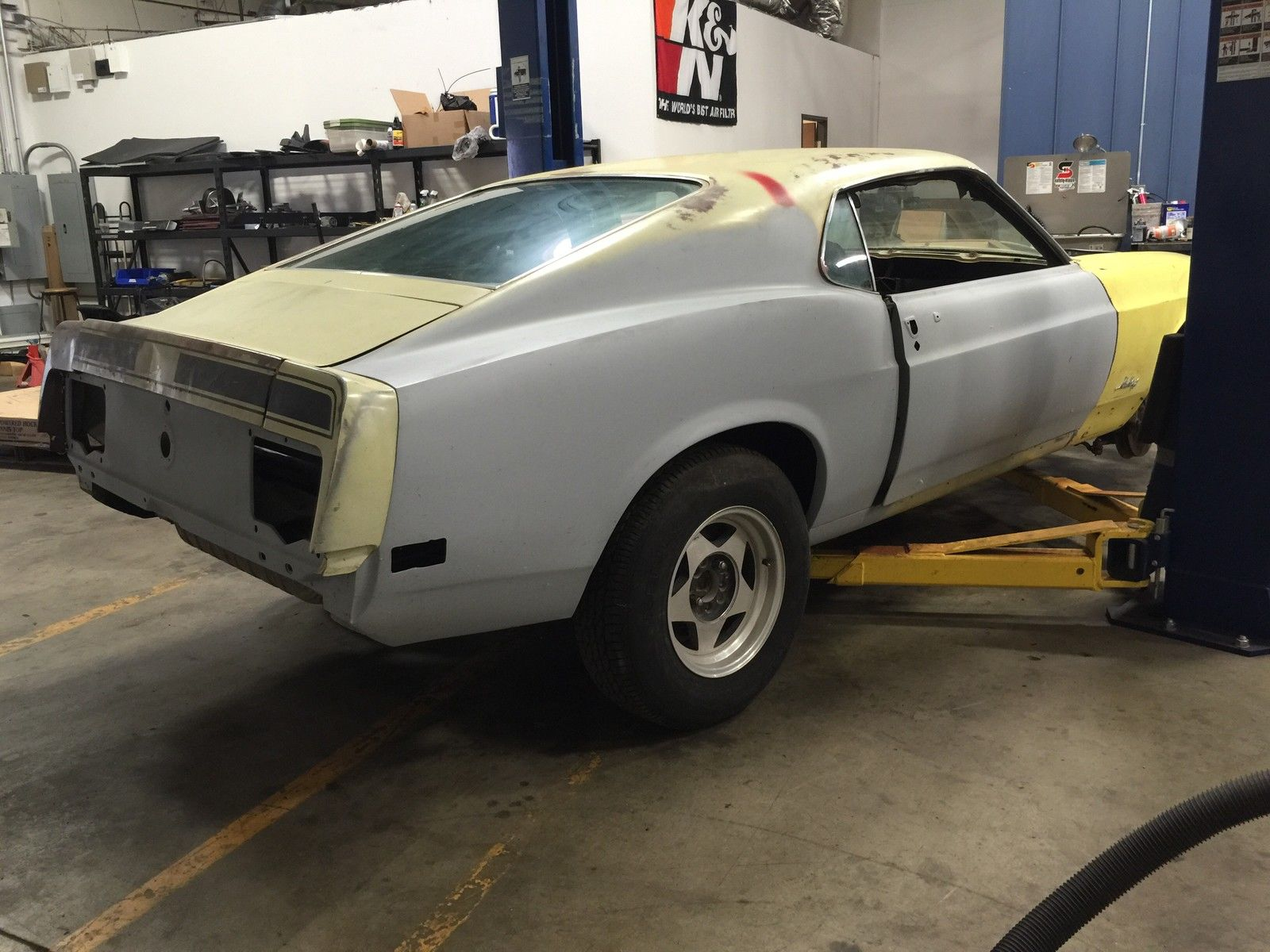 1970 Ford Mustang Mach 1 Fastback 351 V8 Auto Roller Project Rust