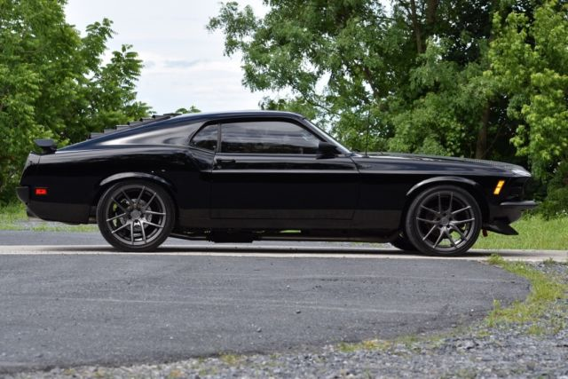 1970 ford mustang mach i fastback black edition classic