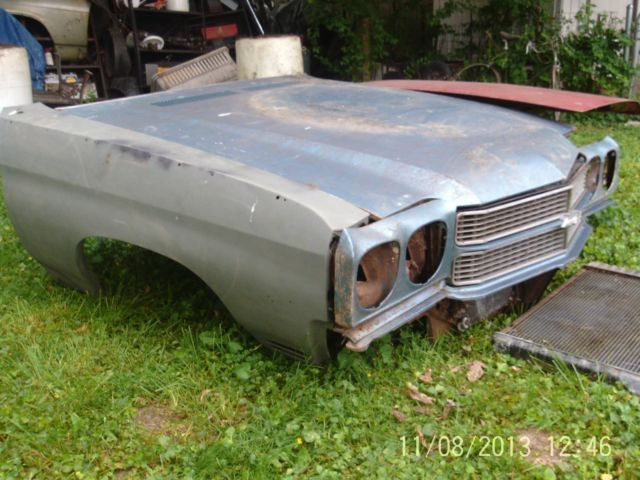 1970 FRONT END PARTS HOOD,RIGHT FENDER,GRILL, LIGHT PC'S,TRUNK LID