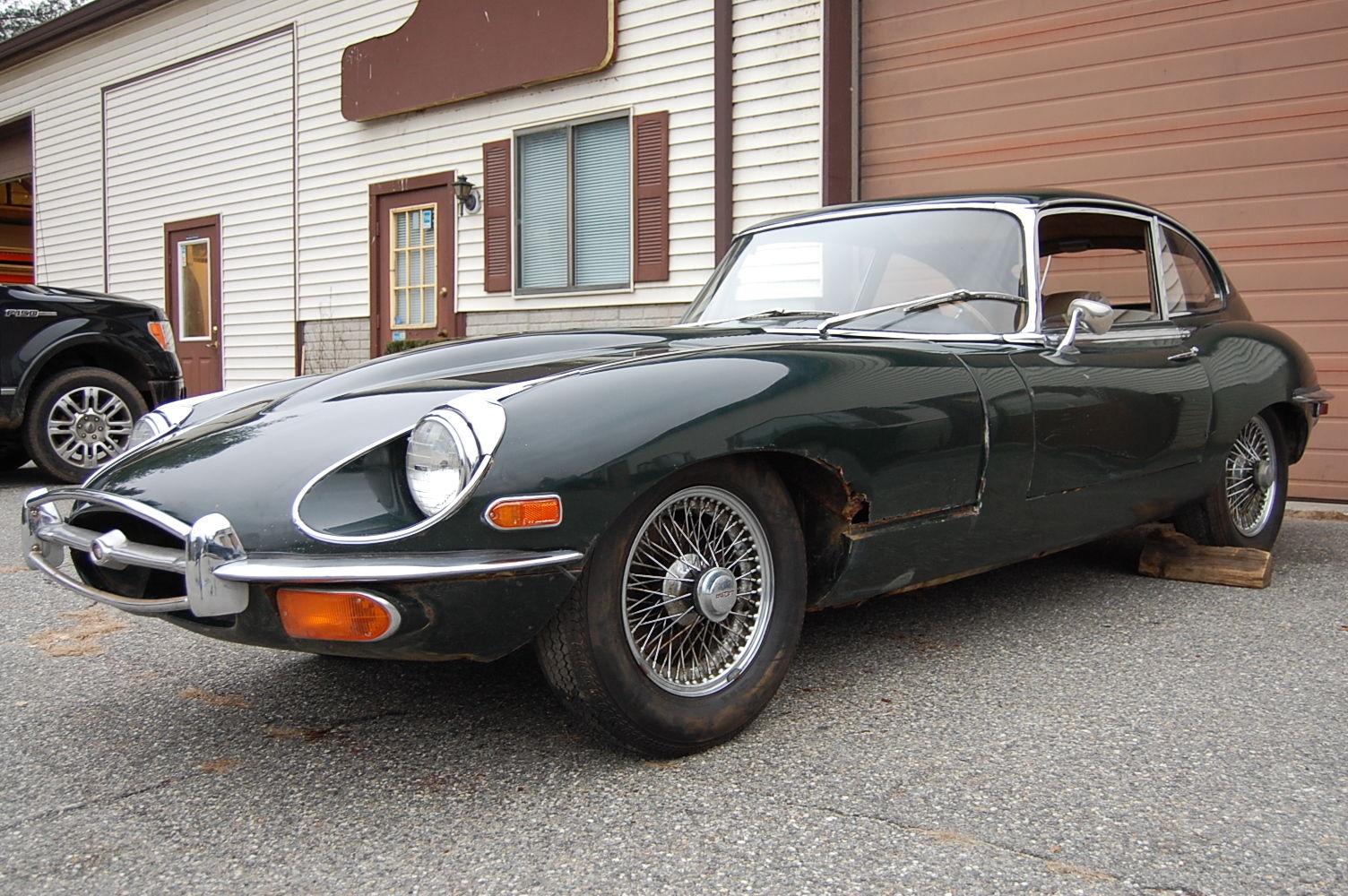 1970 Jaguar Xke 2 2 Coupe British Racing Green Tan Needs Restoration Classic Jaguar E Type