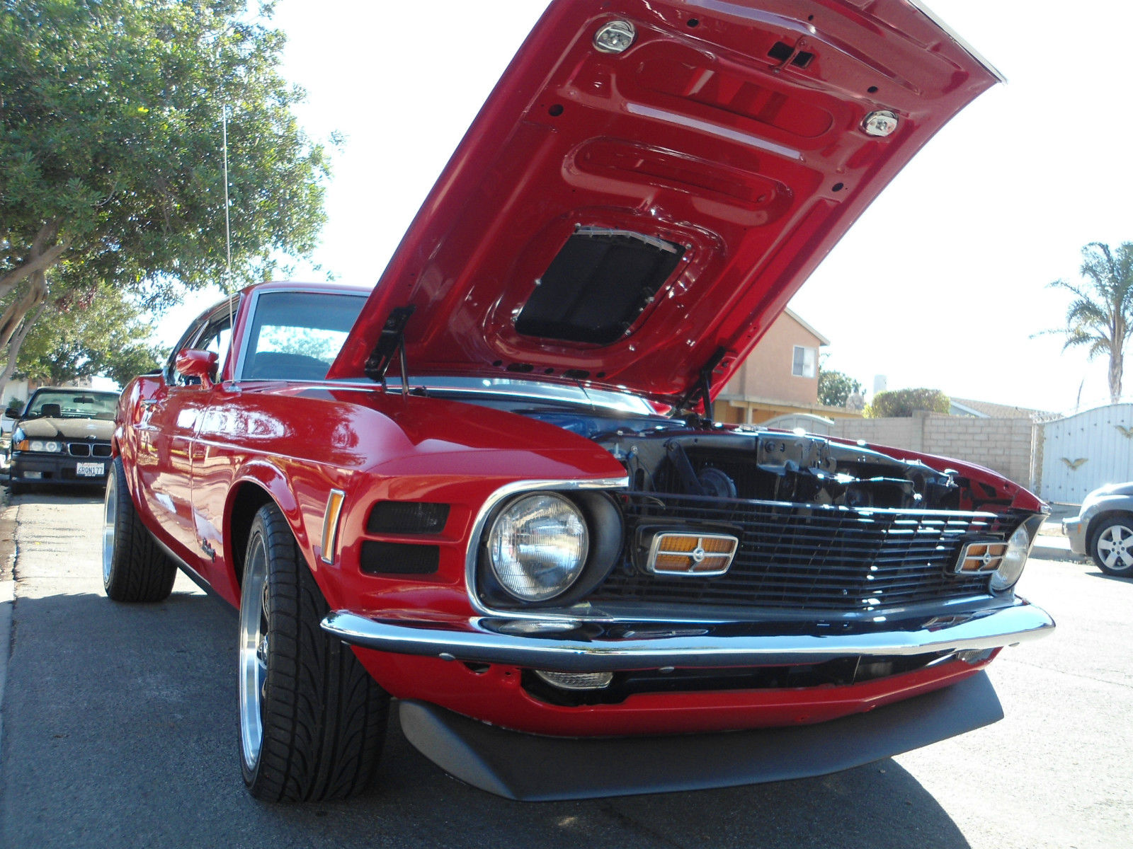 1970 Mustang Mach 1 Red Black Body Built Brand New Everything Like Ford A