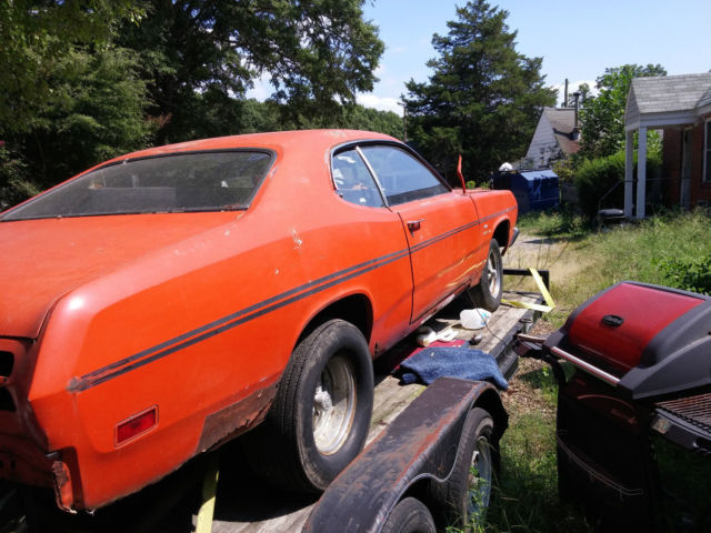 1970 plymouth duster 340 4 speed parts car or project classic plymouth duster 1970 for sale. Black Bedroom Furniture Sets. Home Design Ideas