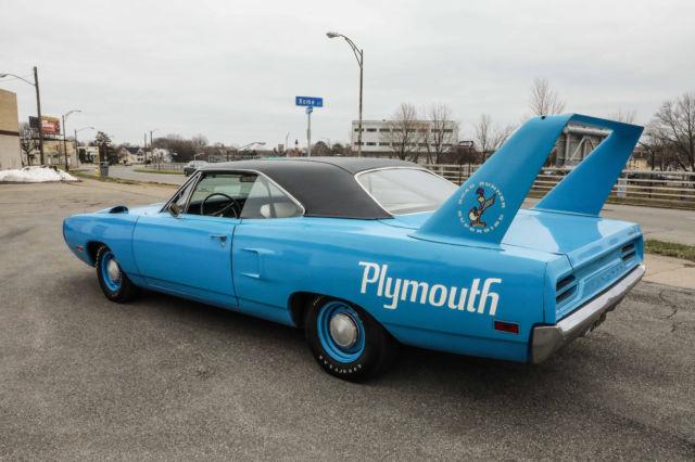 1970 plymouth superbird petty blue survivor