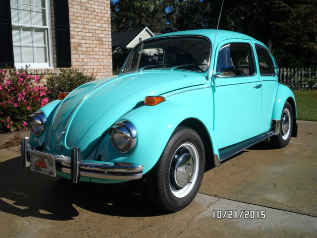 Vw Beetle Rare Automatic Seafoam Green In Very Good Condition