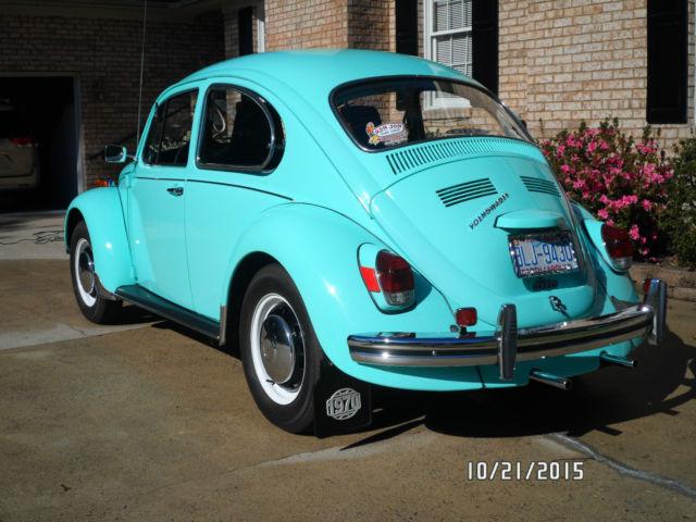 1970 Vw Beetle Rare Automatic Seafoam Green In Very Good