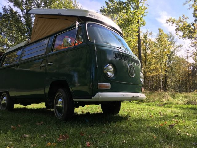1970 vw bus westfalia camper velvet green