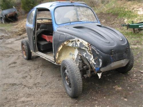 1970 VW Volkswagen Bug Beetle rolling body dune buggy - project