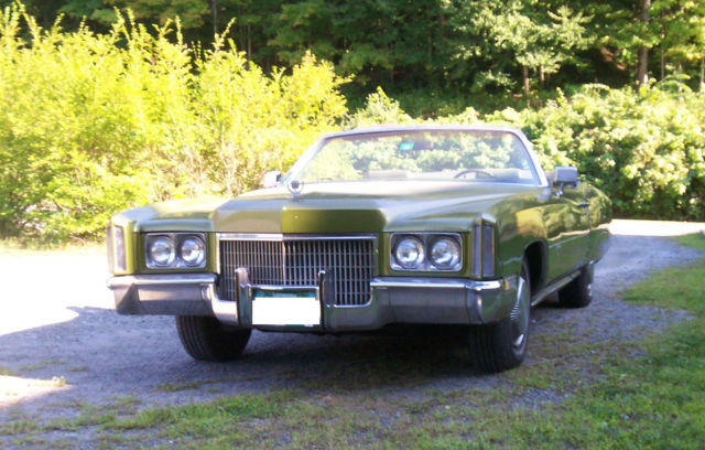 1971 cadillac eldorado convertible one of only 6800 made unrestored history classic. Black Bedroom Furniture Sets. Home Design Ideas