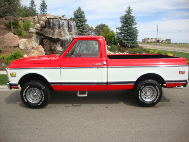 1971 chevy c10 short box 4x4 red and white 1972 1970 c20
