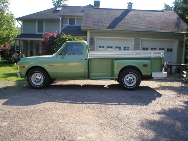 1971 chevy pick up truck, c30, 9' long bed step side ...