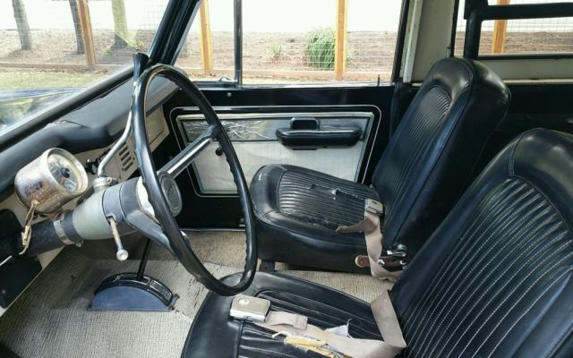 1971 early ford bronco with original black paint white interior great bronco classic ford. Black Bedroom Furniture Sets. Home Design Ideas