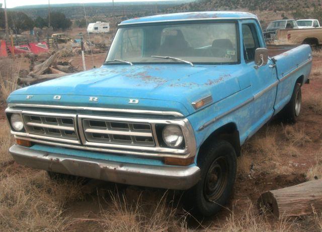 1971 f100 ford pick up truck custom 360 c i d motor classic ford f 100 1971 for sale. Black Bedroom Furniture Sets. Home Design Ideas