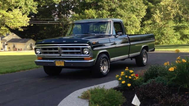 1971 Ford F 100 Ranger Antique Two Tone Green Classic