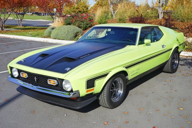 1971 ford mustang boss 429 1 060 miles grabber lime manual classic ford mustang 1971 for sale. Black Bedroom Furniture Sets. Home Design Ideas