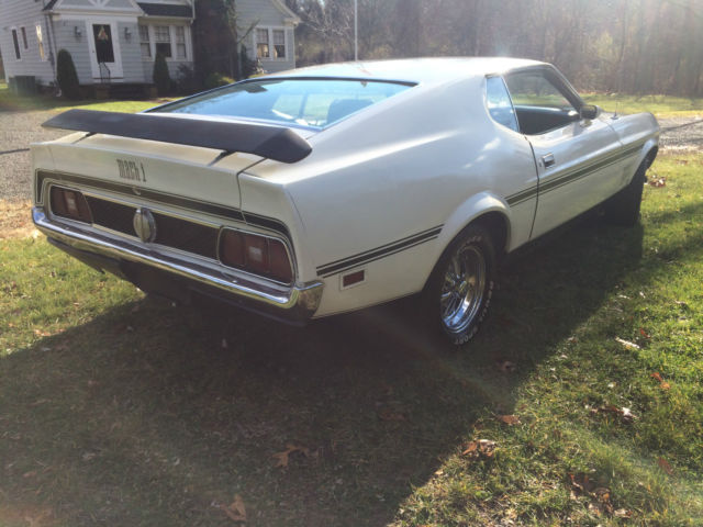 1971 Ford Mustang Mach 1 Fastback 351C 4 Bbl. 3 speed auto ...1971 Mustang Mach 1 Fastback 4 Speed