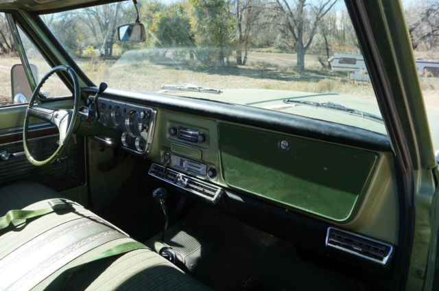 1971 gmc k10 1 2 ton 4x4 350 pickup truck chevy ac one for Colorado springs motor vehicle registration